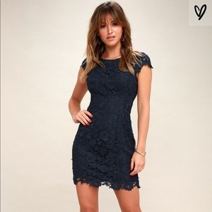 Lulus Romance Language Backless Lace Dress